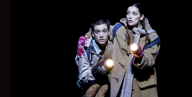 Sophie Martin and Constant Vigier in Christopher Hampson's <i>Hansel & Gretel</i>.<br />© Andy Ross. (Click image for larger version)