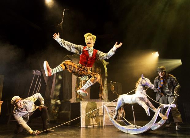 Will Kemp (Ratty), Cris Penfold (Toad) and Clemmie Sveaas (Mole) in <I>The Wind in the Willows</I>.<br />© Johan Persson. (Click image for larger version)
