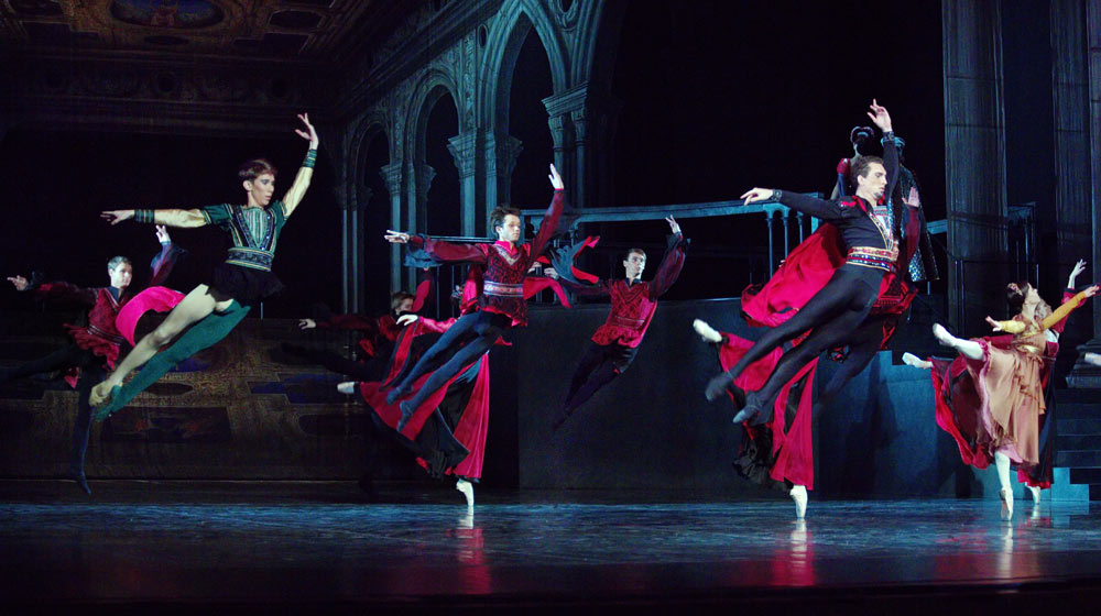 Russian State Ballet of Astrakhan in <I>Romeo and Juliet</I>.<br />© Marina Panova. (Click image for larger version)