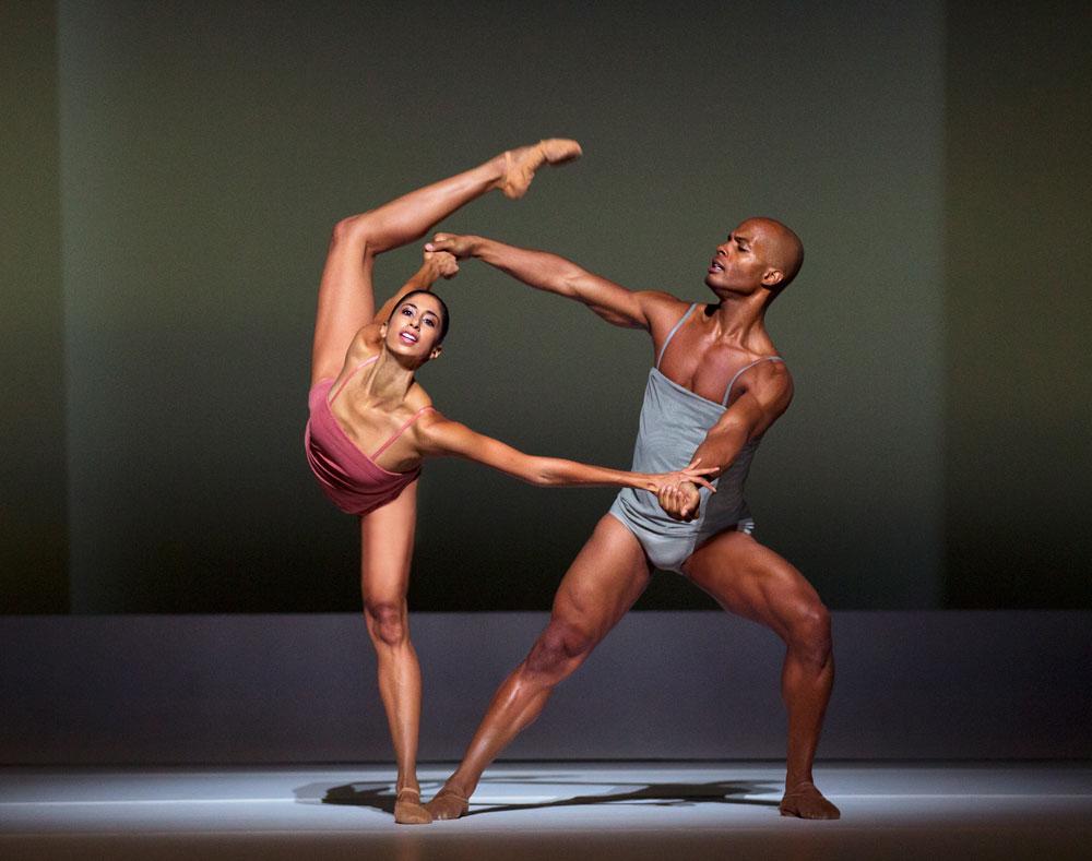 Alicia Graf Mack and Vernard J. Gilmore in Wayne McGregor's <I>Chroma</I>.<br />© Paul Kolnik. (Click image for larger version)
