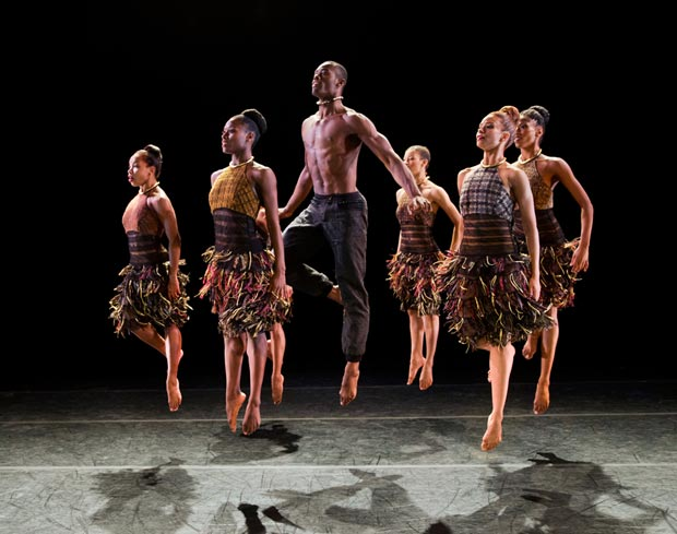 Alvin Ailey American Dance Theater in Aszure Barton's <I>LIFT</I>.<br />© Paul Kolnik. (Click image for larger version)