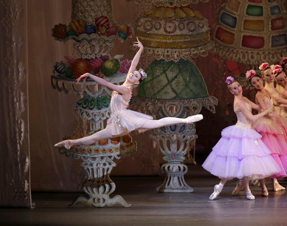 Tiler Peck as Dewdrop in George Balanchine's <I>The Nutcracker</I>.<br />© Paul Kolnik. (Click image for larger version)