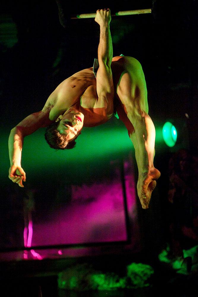 Nicolas Maffey in <I>Nutcracker Rouge</I>.<br />© Phillip Van Nostrand. (Click image for larger version)