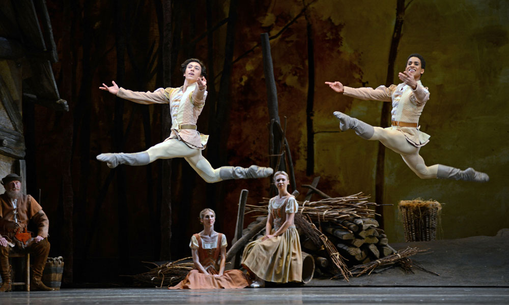 Luca Acri and Marcelino Sambe in Giselle.© Dave Morgan, courtesy the Royal Opera House. (Click image for larger version)