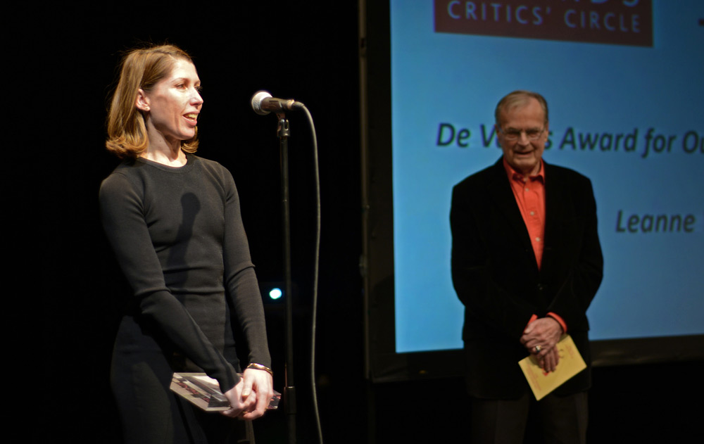Leanne Benjamin and Sir Peter Wright, who presented the award.<br />© Dave Morgan. (Click image for larger version)