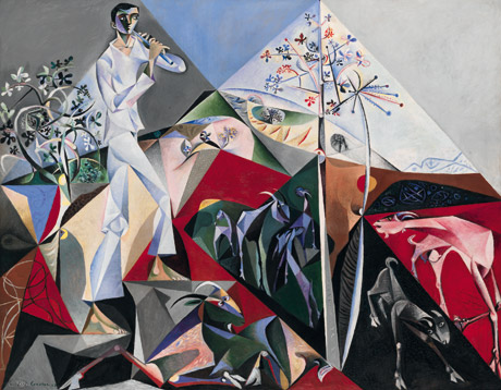 <I>Pastoral for P.W.</I>, by John Craxton, 1948, Oil on canvas, 204.5 x 262.5, Tate Gallery.<br />© Estate of John Craxton.