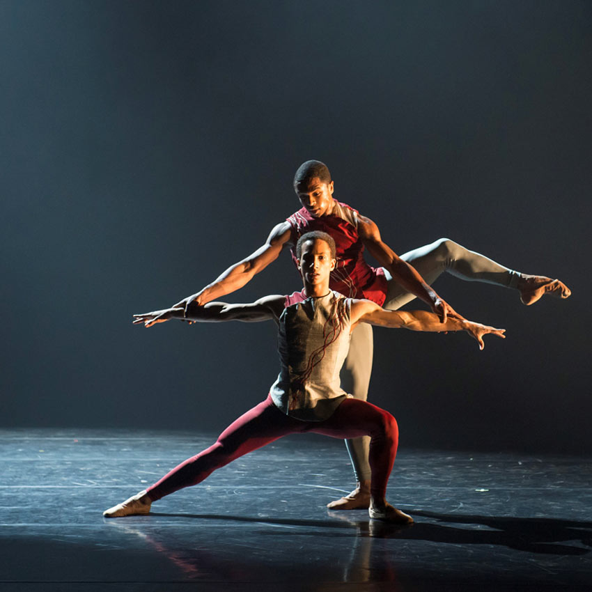 Jacob Wye and José Alves in Martin Lawrance's Limbo.© Bill Cooper. (Click image for larger version)