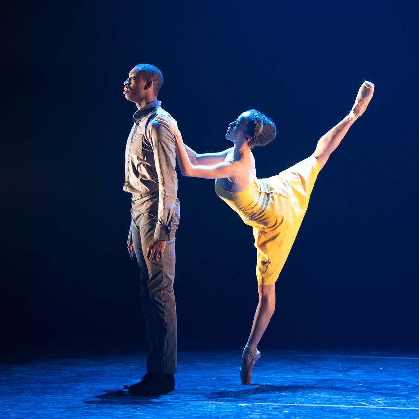 Kanika Carr and Christopher Renfurm in Christopher Marney's Two of a Kind.© Bill Cooper. (Click image for larger version)