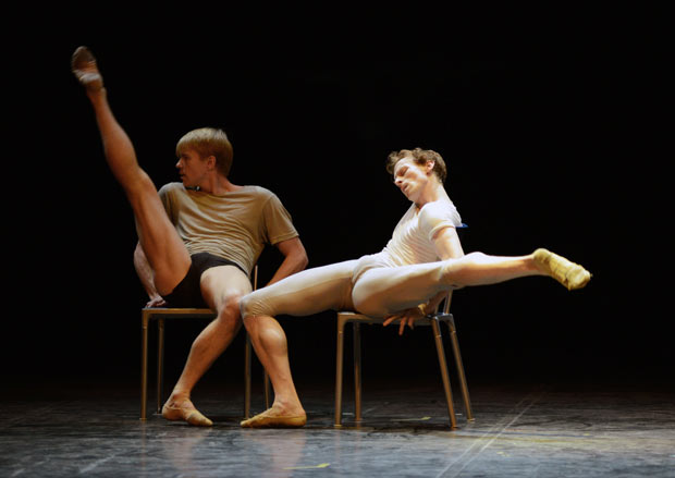 Marjin Rademaker and Edward Watson in Javier de Frutos' 3 with D.© Dave Morgan. (Click image for larger version)