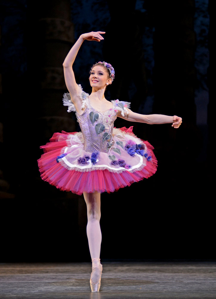 Melissa Hamilton as the Lilac Fairy in <I>The Sleeping Beauty</I>.<br />© Dave Morgan, courtesy the Royal Opera House. (Click image for larger version)