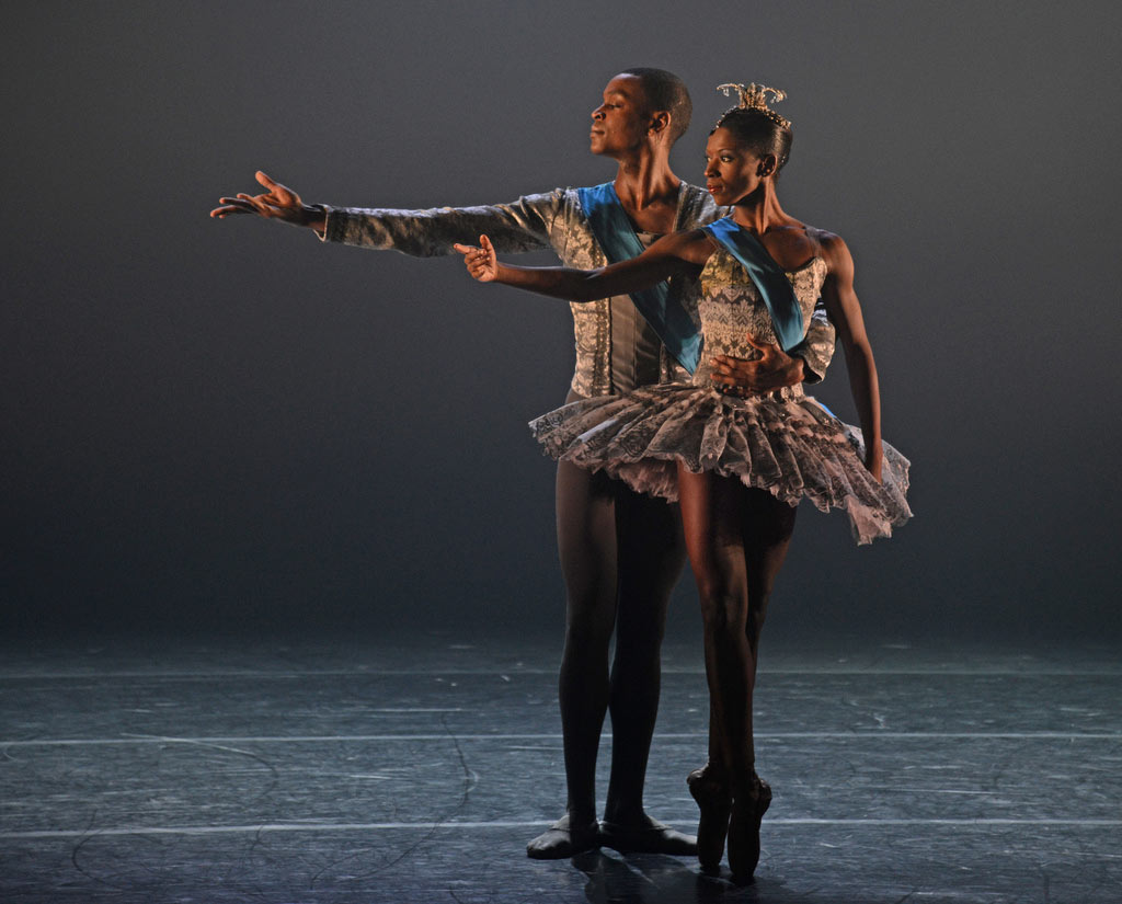 Cira Robinson and Damien Johnson in A Dream Within a Midsummer Night's Dream.© Dave Morgan. (Click image for larger version)