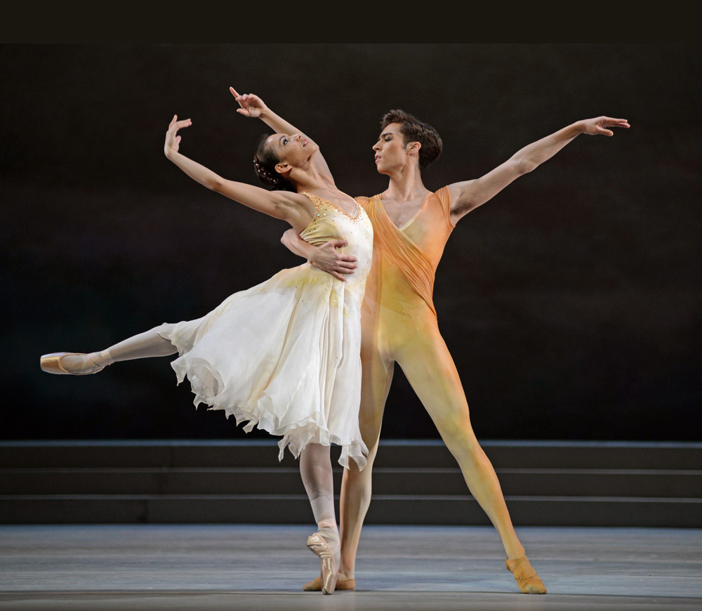 Francesca Hayward and James Hay in Rhapsody.© Dave Morgan, courtesy the Royal Opera House. (Click image for larger version)
