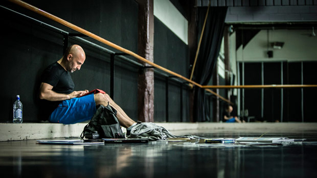 Rafael Bonachela in the studio at Sydney Dance Company.<br />© Peter Grieg. (Click image for larger version)