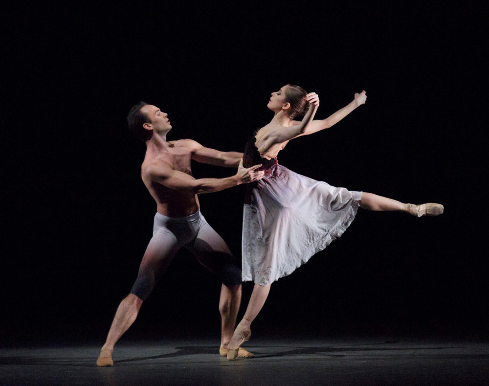 Rebecca Krohn and Tyler Angle in Liam Scarlett's Acheron.© Paul Kolnik. (Click image for larger version)