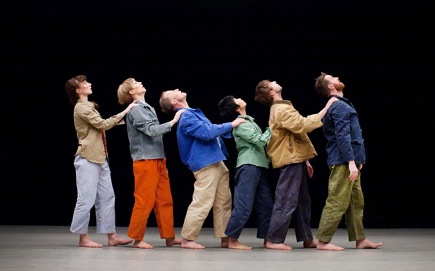 Theo Clinkard dancers in <I>Ordinary Courage</I>.<br />© Pari Naderi. (Click image for larger version)