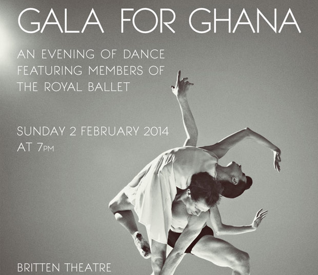 Gala for Ghana flyer with Lauren Cuthbertson and Edward Watson of The Royal Ballet.<br />© Rick Guest. (Click image for larger version)