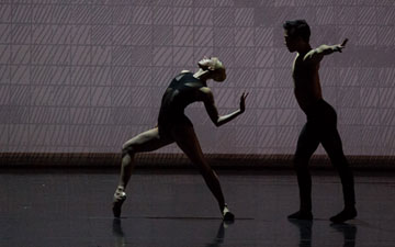Whitney Jensen and Jeffrey Cirio in Elo's C. to C. (Close to Chuck) Reborn.© Rosalie O'Connor. (Click image for larger version)
