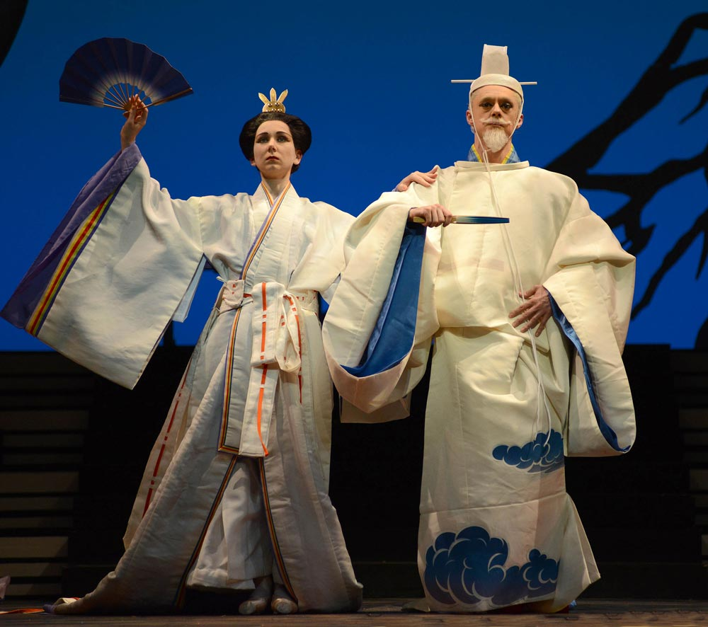 Elisha Willis (Empress Epine) and Rory Mackay (Emperor) in The Prince of the Pagodas.© Roy Smiljanic. (Click image for larger version)