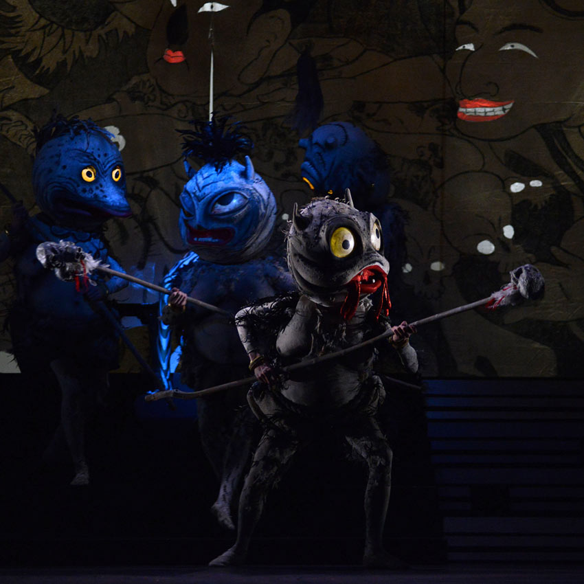 Artists of Birmingham Royal Ballet as Yokai in The Prince of the Pagodas.© Roy Smiljanic. (Click image for larger version)