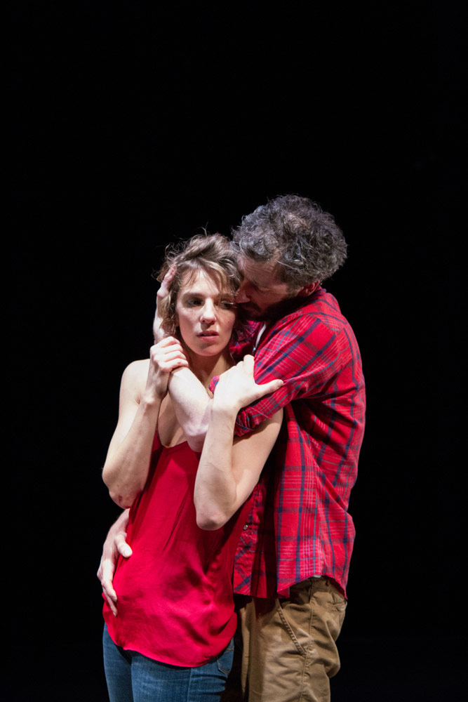 Antonia Grove and Greig Cooke in <I>Running on Empty</I>.<br />© Tim Copsey. (Click image for larger version)