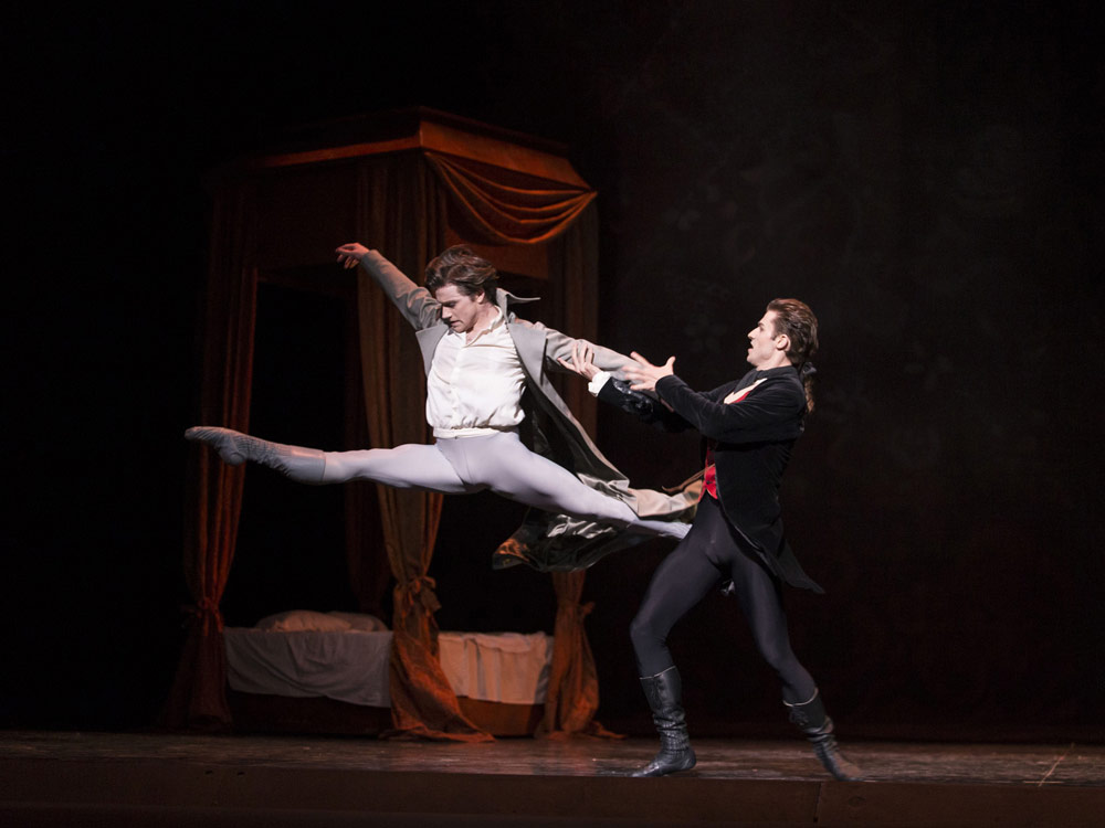 Alban Lendorf and Benjamin Buza in <I>Manon</I>.<br />© Costin Radu. (Click image for larger version)