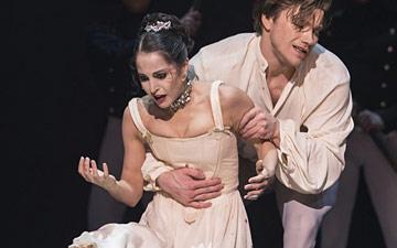 Cedric Lambrette, Benjamin Buza, Alexandra Lo Sardo and Alban Lendorf in Manon.© Costin Radu. (Click image for larger version)