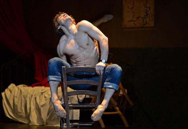 Ivan Vasiliev in <I>Le Jeune Homme et la Mort</I>.<br />© Dave Morgan. (Click image for larger version)