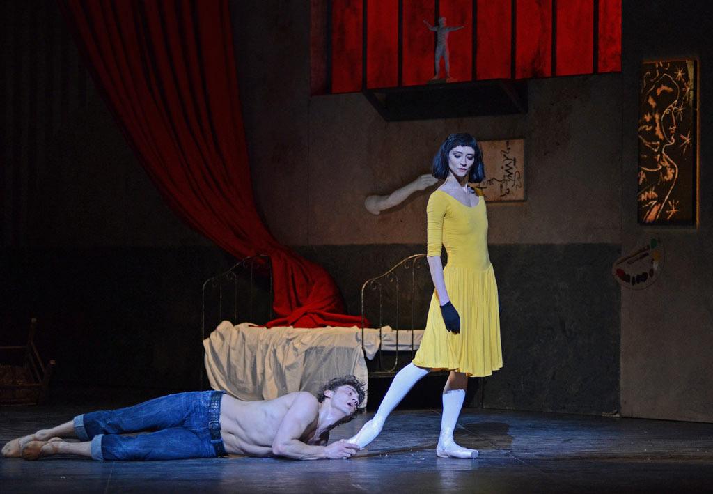 Ivan Vasiliev and Svetlana Lunkina in <I>Le Jeune Homme et la Mort</I>.<br />© Dave Morgan. (Click image for larger version)