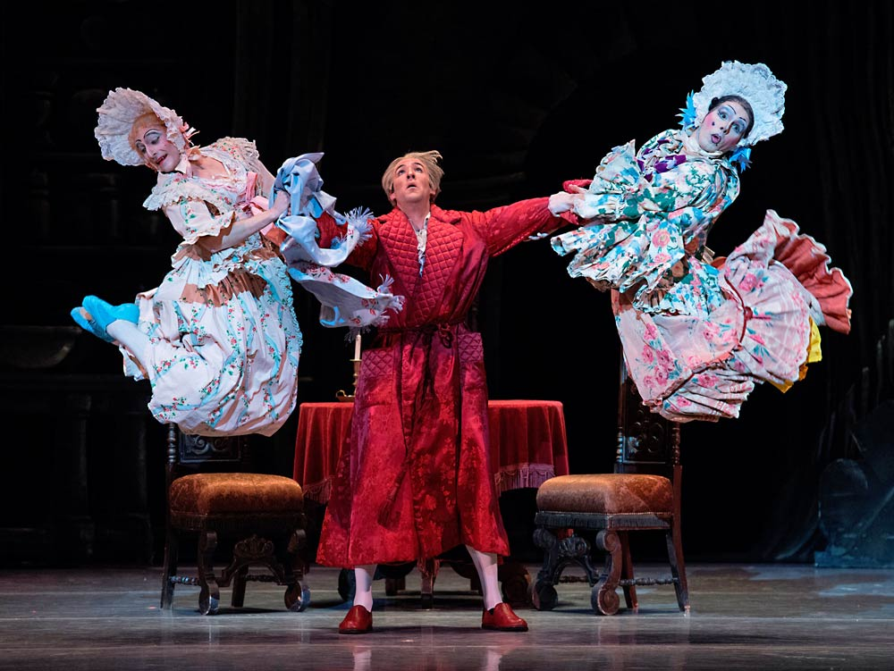 Boyko Dossev, Roddy Doble and Yury Yanowsky in Cinderella.© Gene Schiavone. (Click image for larger version)