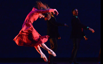 Morgann Rose in Christopher Bruce's Rooster.© Paul Wegner. (Click image for larger version)