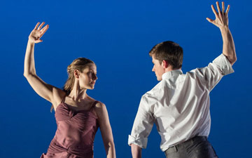 Jenn Weddel and Spencer Ramirez in Jenn and Spencer.© Stephanie Berger. (Click image for larger version)
