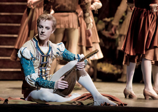 Steven McRae as Romeo.<br />© Andrej Uspenski, courtesy the Royal Opera House.