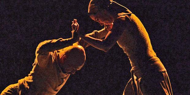 Akram Khan and Tamara Rojo in Khan's <I>Dust</I>.<br />© Dave Morgan. (Click image for larger version)