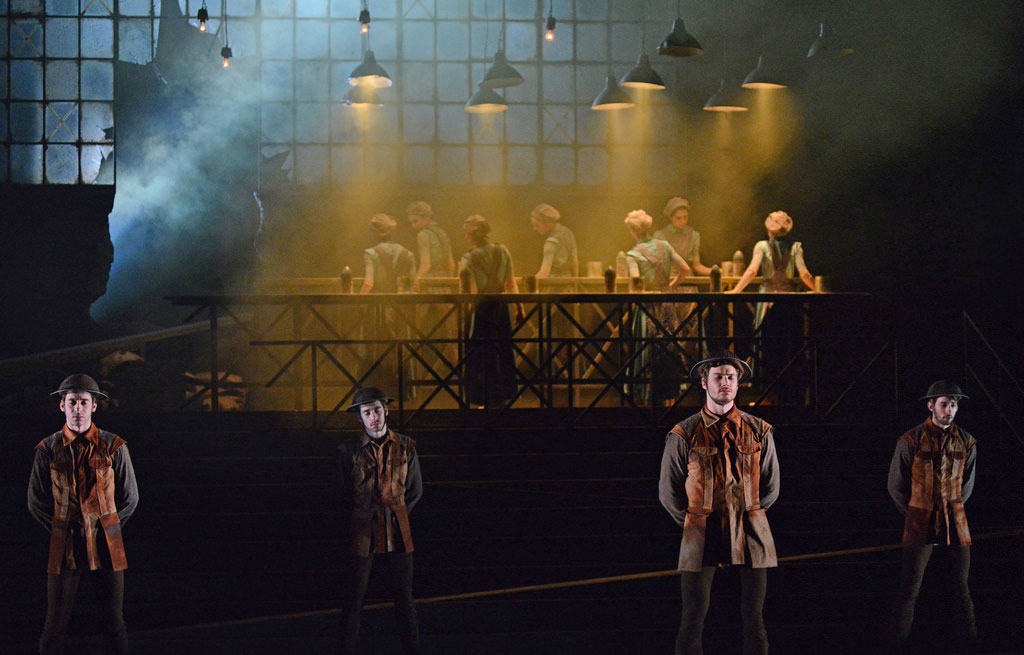 English National Ballet in Liam Scarlett's <I>No Man's Land</I>.<br />© Dave Morgan. (Click image for larger version)