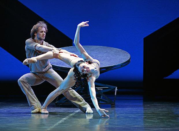 Oleg Gabyshev and Lyubov Andreyeva in <I>Rodin</I>.<br />© Dave Morgan. (Click image for larger version)