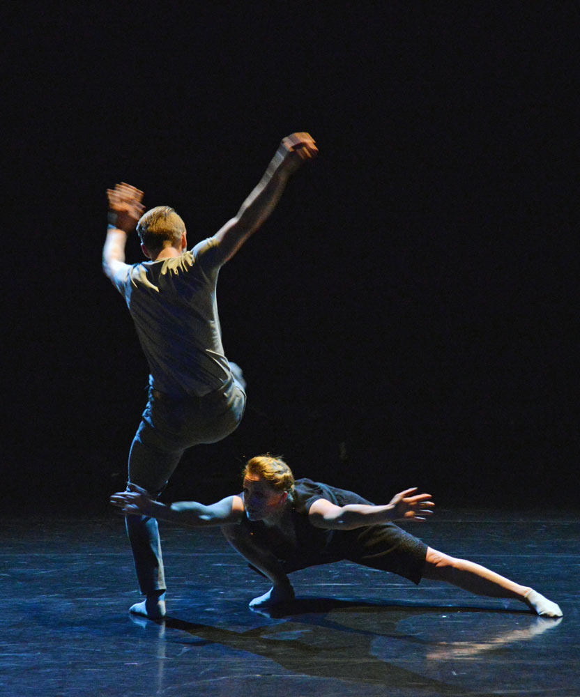 Christopher Akrill and Gemma Dixon in <I>Two</I>.<br />© Dave Morgan. (Click image for larger version)