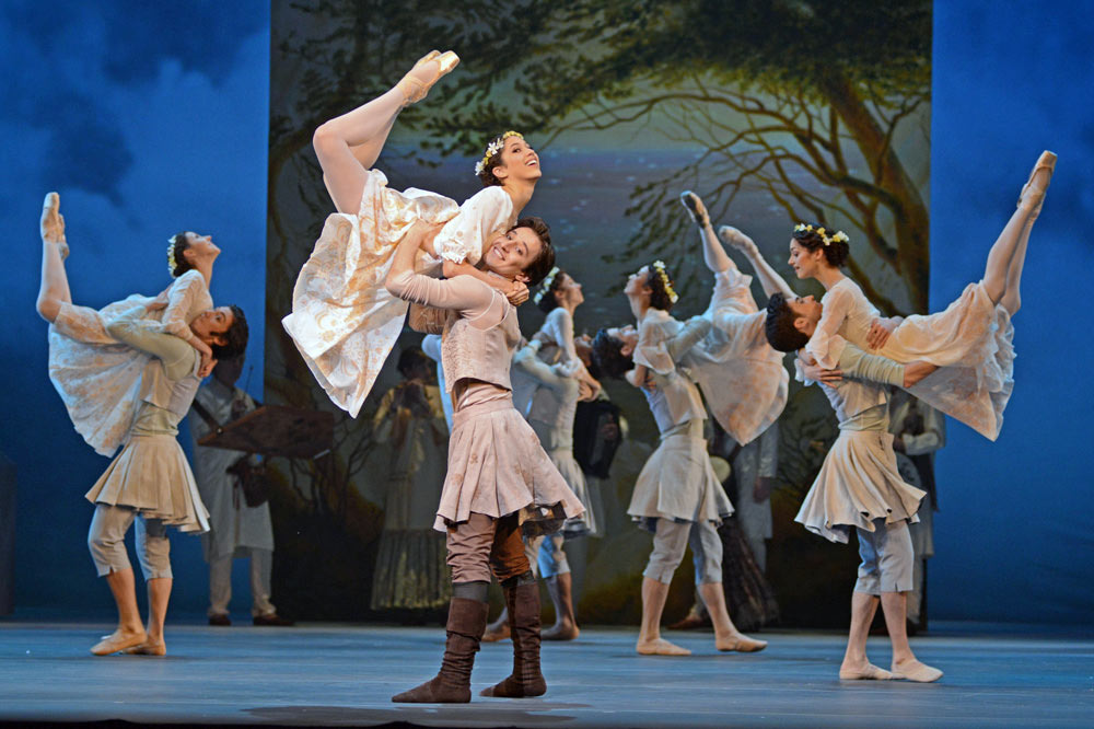 Beatriz Stix-Brunell and Valentino Zucchetti in Christopher Wheeldon's <I>The Winter's Tale</I>.<br />© Dave Morgan, courtesy the Royal Opera House. (Click image for larger version)