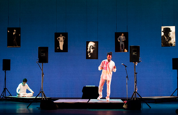 Savion Glover in <I>SoLe Sanctuary</I>.<br />© Foteini Christofilopoulou. (Click image for larger version)
