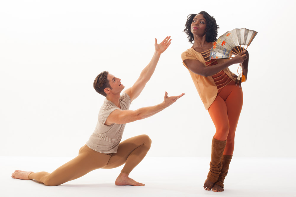Michelle Fleet and Michael Apuzzo in <I>American Dreamer</I>.<br />© Tom Caravaglia. (Click image for larger version)