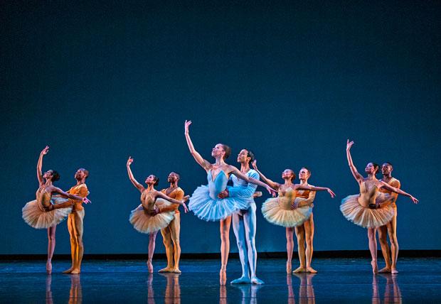 Dance Theatre of Harlem in <I>Pas de Dix</I>.<br />© University of Utah. (Click image for larger version)