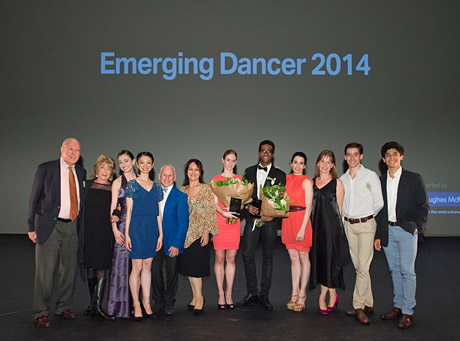 """2014 Emerging Dancer Competition - Winners, nominees and judges.<br />© <a href=""""http://www.balletphotography.co.uk/"""">ASH</a>. (Click image for larger version)"""