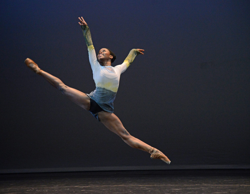 Michaela DePrince in George Williamson's Dawn Dances.© Dave Morgan. (Click image for larger version)