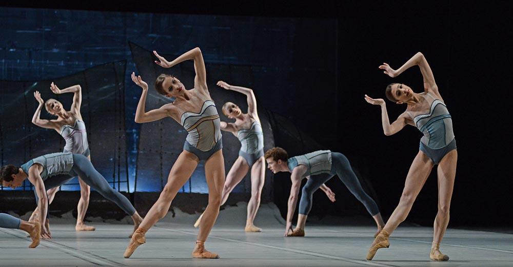 Royal Ballet in Christopher Wheeldon's <I>DGV: Danse à grande vitesse</I>.<br />© Dave Morgan, courtesy the Royal Opera House. (Click image for larger version)