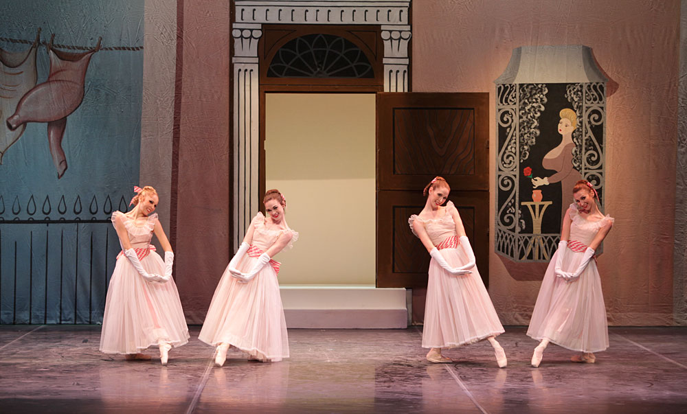 Christine Peixoto, Emily Dixon, Amy Wood and Emily Woods in Frederick Ashton's Façade.© Frank Atura. (Click image for larger version)