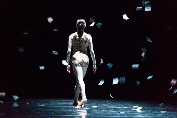 Estela Merlos in Lucinda Childs' <I>Four Elements</I>.<br />© Foteini Christofilopoulou. (Click image for larger version)