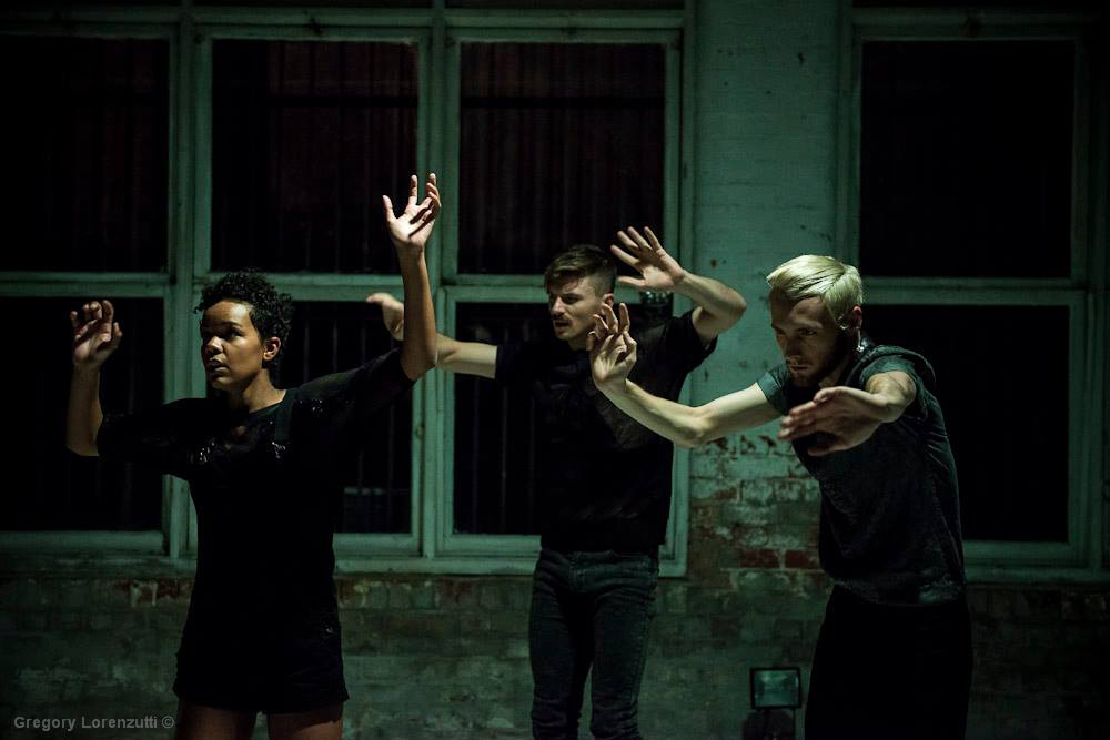 Chafia Brooks, James Welsby and Benjamin Hancock in <i>Hex</i>.<br />© Gregory Lorenzutti. (click image for larger version)