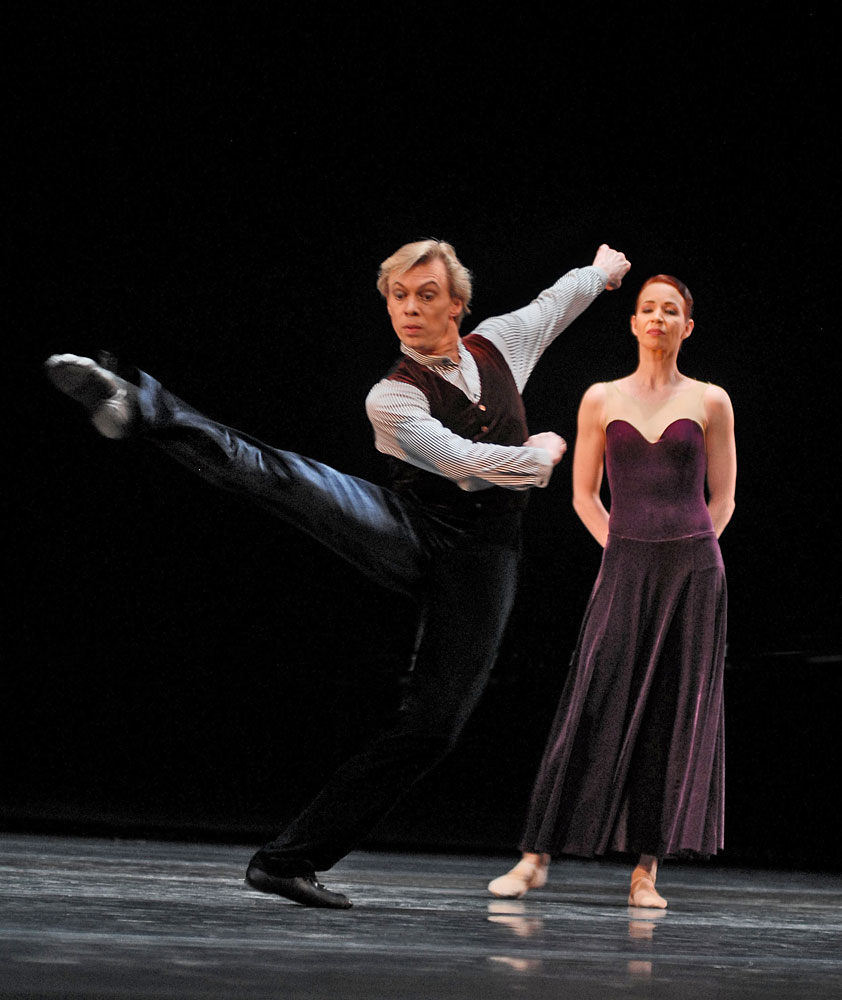 Vladimir Malakhov and Beatrice Knopp in Hans van Manen's The Old Man and Me.© Igor Zakharkin. (Click image for larger version)