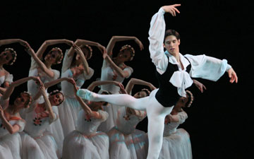 Xander Parish in Chopiniana (Les Sylphides).© Natasha Razina. (Click image for larger version)
