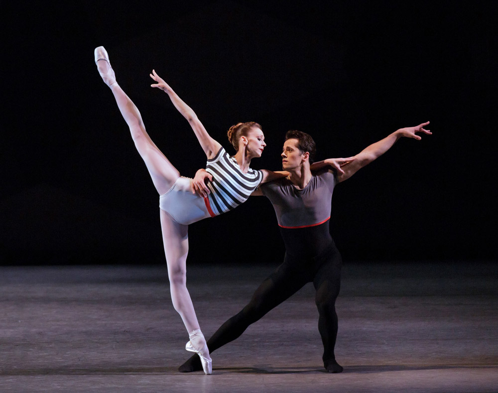 Maria Kowroski and Robert Fairchild in Justin Peck's Everywhere We Go.© Paul Kolnik. (Click image for larger version)