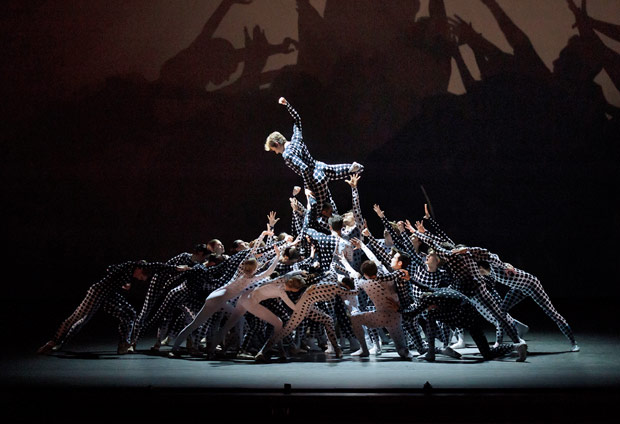 New York City Ballet in <I>Le Bousquets</I>.<br />© Paul Kolnik. (Click image for larger version)